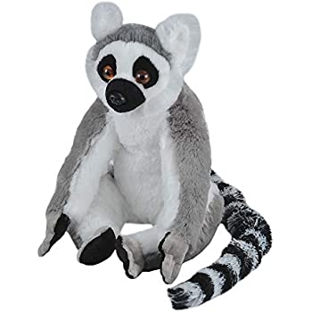 Amazon Com Melissa Doug Standing Lifelike Lemur Stuffed Animal