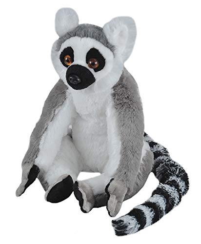 Wild Republic Ring Tailed Lemur Plush, Stuffed Animal, Plush Toy, Gifts for Kids, Cuddlekins 12 Inches