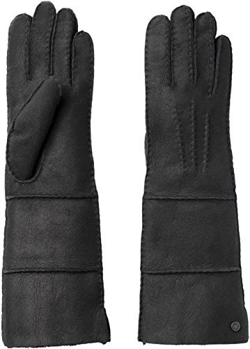 UGG Women's Long Pieced Sheepskin Gloves with Slim Pile Black LG by UGG
