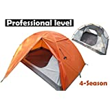 Hasika 2 Person 4 Season Professional level Tent Ultralight Aluminum Rod Anti-UV with Carry Bag Backpacking Windproof Waterproof Double Layer Outdoor Ideal for Camping Hiking Travel Hunting
