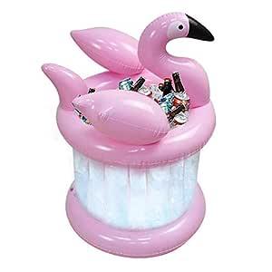 Cubo de hielo inflable Flamingo de 27 pulgadas, enfriador de ...