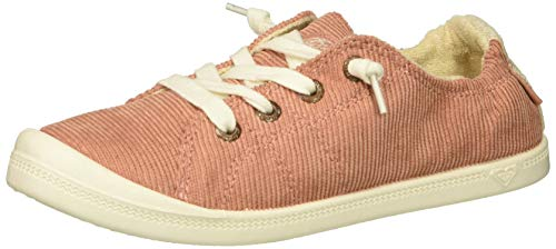 Roxy Girls' RG Bayshore Slip On Sneaker Shoe, Rust, 4 M US Big Kid ()