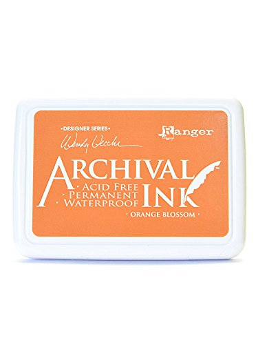 Ranger Archival Ink Wendy Vecchi Designer Series orange blossom 2 1/2 in. x 3 3/4 in. pad [PACK OF 3 ] by Ranger