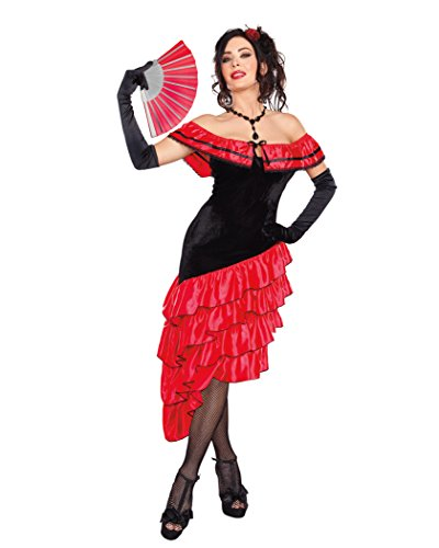 Spanish Dancer Fancy Dress Costume (Dreamgirl Women's Spanish Dancer Costume, Black/Red, Medium)