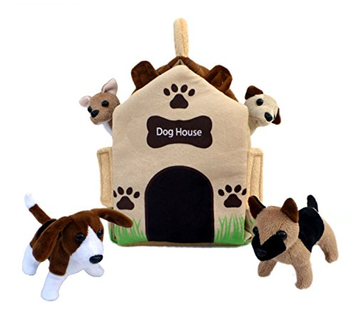 "ADORE 12"" Dog House Pet Puppy House Plush Stuffed Animal Playset Carrying Case"