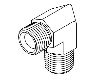 Tompkins Industries 3540 02 02 Bspp To Bspt Elbow 90 Degree Steel
