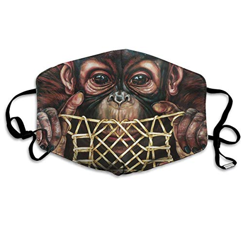 Anti Dust Face Mouth Cover Mask Chimpanzee Picture Anti Pollution Breath Healthy Mask]()