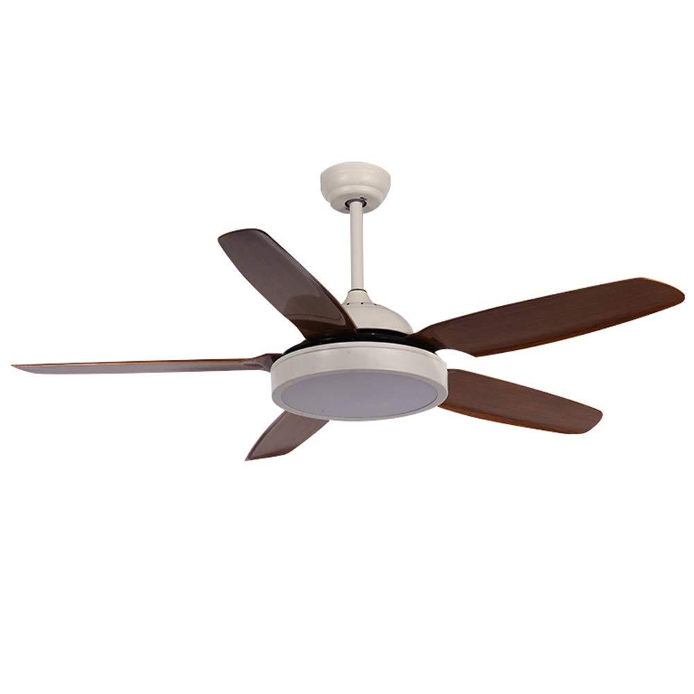 現代の天井扇風機、106cm / 132cm、5枚の褐色ABS可逆ファンブレード、LEDライトキットとリモコン付き、24W三色調光 42in(106cm)  B07T71DFZ6