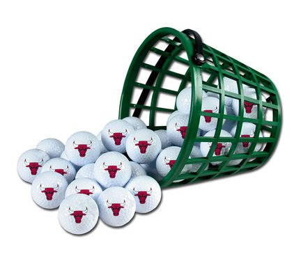 Wincraft NBA Chicago Bulls Bucket of 36 Golf Balls