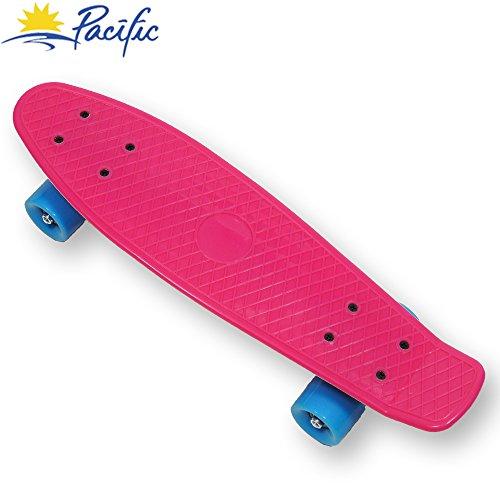 retro mini Cruiser Complete Skateboard Penny Style deck Street Skate board plastic (Pink)