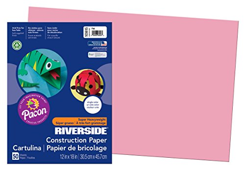 Pacon Groundwood Construction Paper, 12in. x 18in., - 12x12 Pink Scrapbook Paper