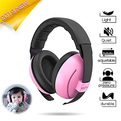 Toennesen Baby Hearing Protection Earmuffs,Noise Reduction Headphones for Infant & Toddlers,Soft & Comfortable Baby Ear Protectors-Pink from TOENNESEN