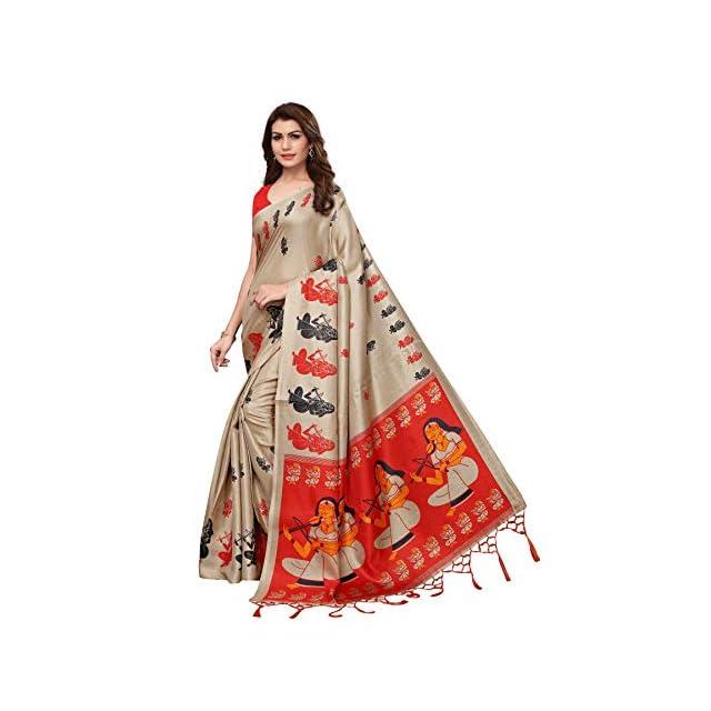 Anni Designer Indian Women's Khadi Silk Saree with Blouse Piece