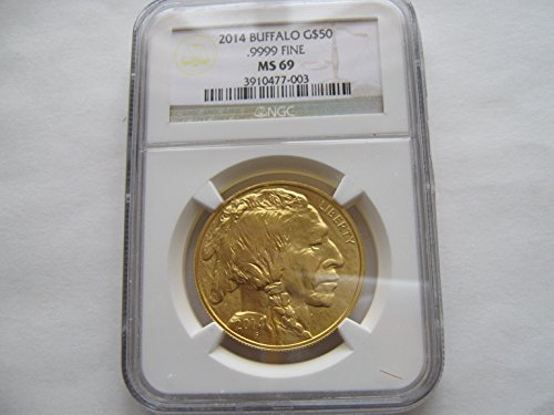 - 2014 American Gold Buffalo $50 MS-69 NGC