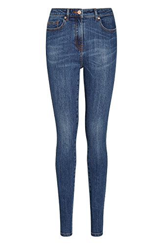 next Mujer Pantalones Vaqueros De Mezcla De Algodón Pitillo Skinny 5 Bolsillos Clásicos Azul Oscuro