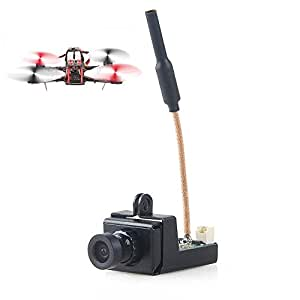 FPV Camera Micro AIO Camera 5.8G 800TVL 25mw/200mw/600mw Adjustable Adopt Video Transmitter 1/3 SMOS Sensor for FPV Vehicle Drone Car and Ship by Crazepony