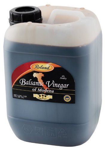 Roland Premium Modena Balsamic Vinegar, 1 gal 1 qt  Container 1 Consistent in flavor, texture, and color Made from a different process than the regular balsamic vinegar Product of Modena, Italy