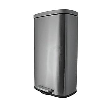 Steeldesign Gleo Mülleimer mit 50 Liter | Design Treteimer ...