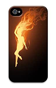 iPhone 4 4s Cases & Covers - Fire Woman Custom PC Soft Case Cover Protector for iPhone 4 4s