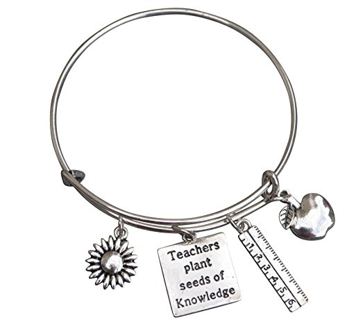 Infinity Collection Teacher Bracelet, Teacher Jewelry, Teacher Gift - Show Your Teacher (Teachers Plant Seeds)