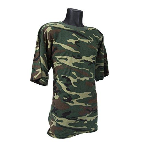 - Rothco Usa T-Shirt, Woodland Camo, X-Large