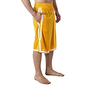 Men's Russell Athletic Basketball Mesh Shorts Gold S