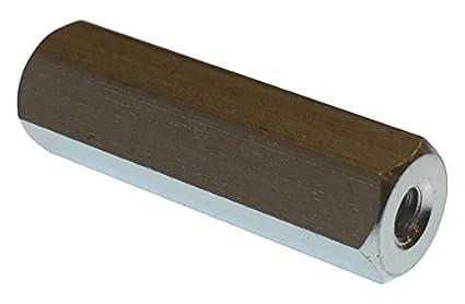 Hex Standoff Aluminum Pack of 10 Female 0.25 Length, Clear Iridite #4-40 Screw Size 0.187 OD