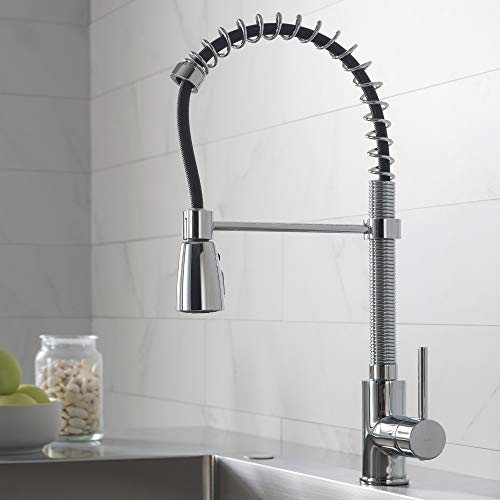 Kraus KPF-1612 Single Lever Pull Down Kitchen Faucet Chrome