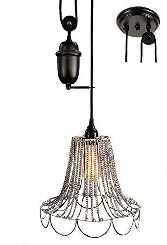 (CTW 930102W Shabby Chic Pulldown Wire Pendant Lamp)