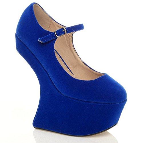 Stile Blu Uomoo Donna A numero discoteca discoteca discoteca tacco piattaforma mary   195c29