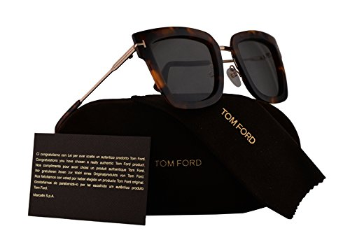 Tom Ford FT0573 Lara-02 Sunglasses Havana w/Smoke Lens 55A - Alicia Sunglasses Ford Tom