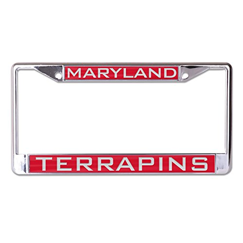 Wincraft NCAA Maryland Terrapins Inlaid Metal License Plate Frame, 2-Tag Corners ()