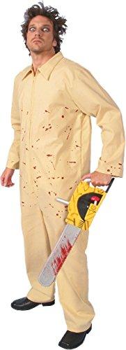 Alexanders Costumes Men's Horror Jumpsuit, Tan, Large -