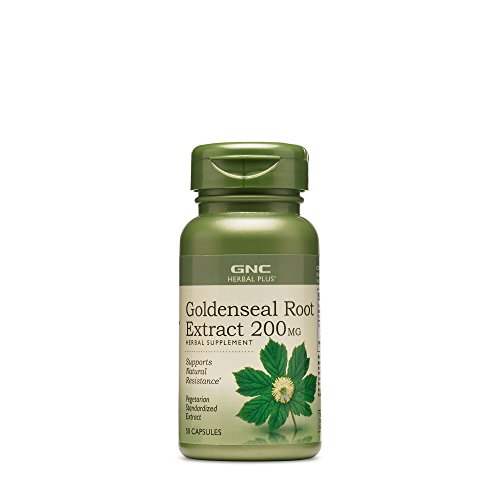 GNC Herbal Plus Goldenseal Root Extract 200mg, 50 Capsules, Supports Natural Resistance ()