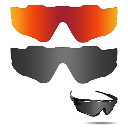 Optic Crystal Golf Ball (Fiskr Anti-saltwater Polarized Replacement Lenses for Oakley Jawbreaker Sunglasses 2 Pairs Packed)