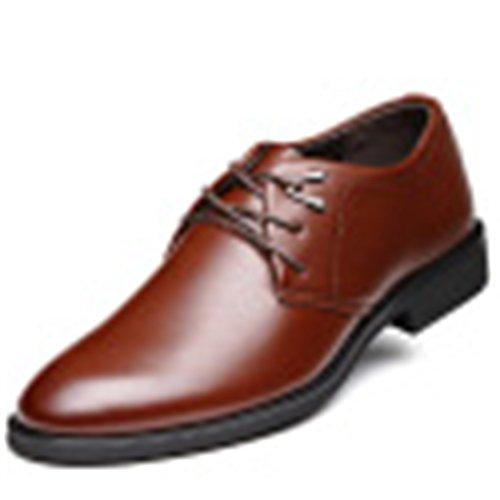 D'Affaires Lacets Marron de Chaussures qianchuangyuan PU pour à Hommes Neuves Cuir Chaussures Oxfords Ville Bout qwCS1gP