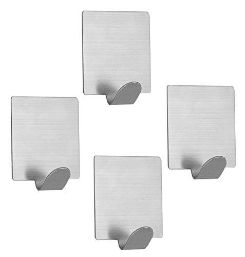 304 Stainless Steel Self Adhesive Hook Bathroom Kitchen Towel Hanger Style 4 - 7