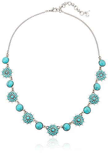 Lucky Brand Turquoise Collar Necklace (Best Women's Jewelry Brands)