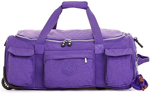 Kipling Women's Discover Small Carry-On Rolling Luggage Duffle One Size Precisely Purple by Kipling