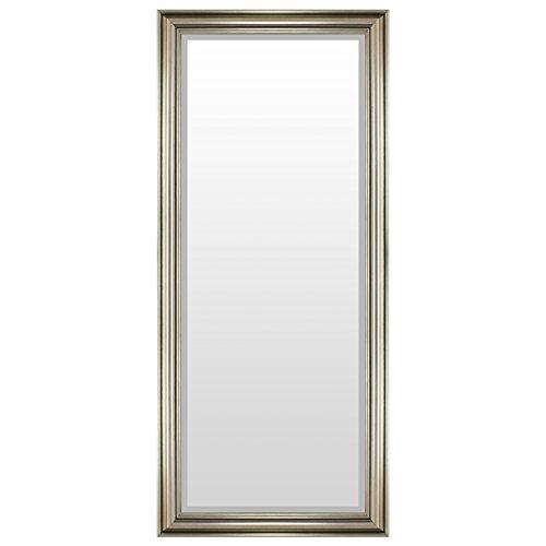 Eleganter Wandspiegel Flurspiegel Garderobenspiegel Frisierspiegel Spiegel mit Facettenschliff 140x60cm - Silbergold