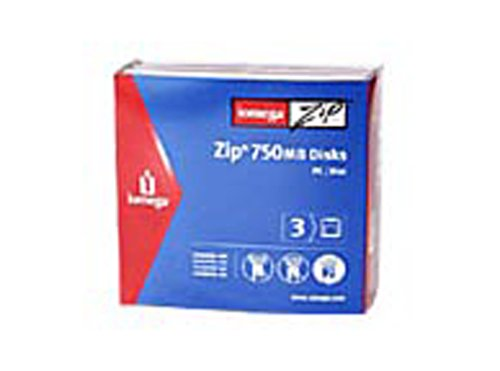 Iomega Zip Disk 750MB Cartridge (3-Pack) (Discontinued by Manufacturer) by Iomega