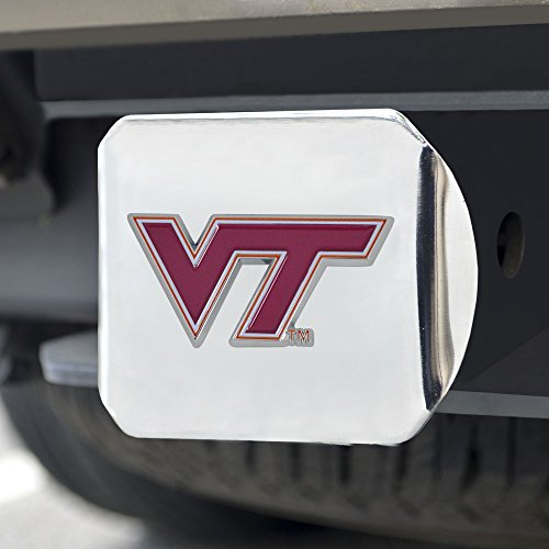 Cover Virginia Hitch Tech (Fanmats NCAA Virginia Tech Hokies Virginia Techcolor Hitch - Chrome, Team Color, One Size)