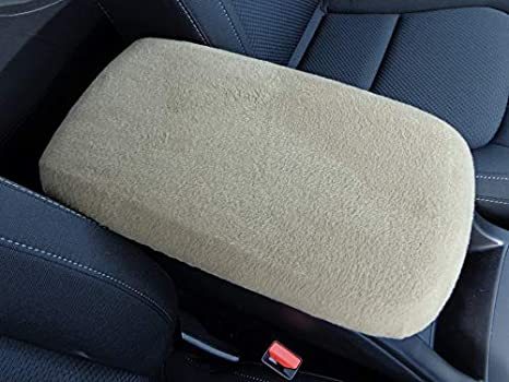 Car Console Covers Plus Made in USA Fleece Center Armrest Console Cover Designed for Subaru Forester 2019-2020 Black