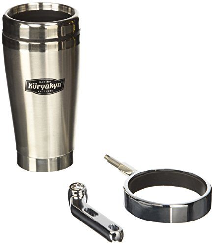 Kuryakyn 1463 Universal Drink Holder with Stainless Steel Mug (Quick Shadow Mount)