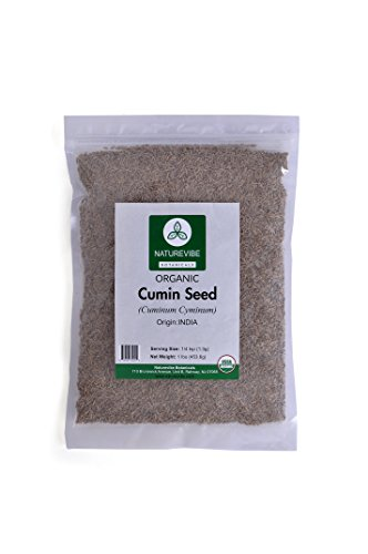 Whole Cumin Seeds (1 Pound ) - Organic Raw Cuminum cyminum L.