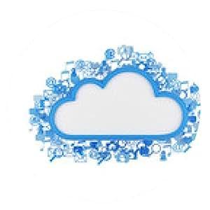 alfombrilla de ratón nube con iconos - ronda - 20cm