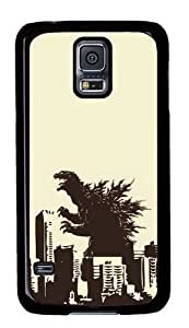 Rugged Samsung Galaxy S5 Case and Cover - Godzilla Custom Design PC Case Cover for Samsung Galaxy S5 - Black