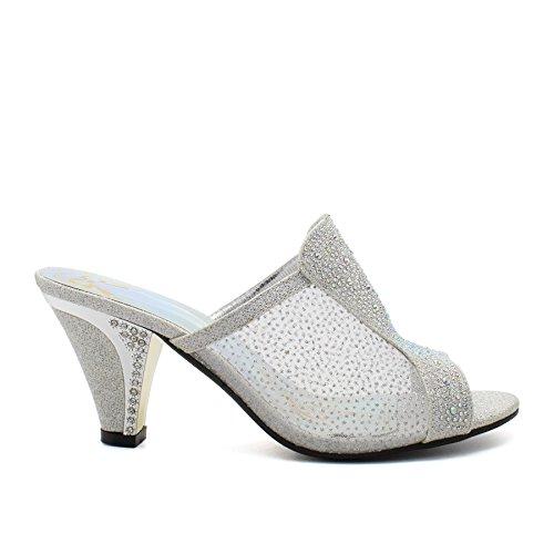 plata London abierto mujer Footwear talón 7gIrOH7