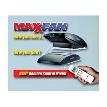 Maxxair 0007500K MaxxFan Smoke Grey Deluxe Remote Fan Lid
