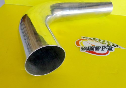 """NYPPD Universal 3.0"""" in 76 mm Outside Diameter 90 Degree Polished Aluminum Pipe"""